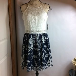 By&By Junior Lined  Lace Floral Dress Size 15